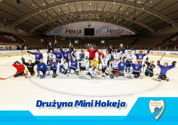 zdjęcie drużynowe najmłodszych adeptów hokeja poturnieju