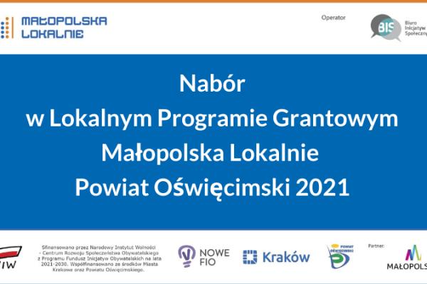 Lokalny Program Grantowy dla organizacji pozarządowych igrup nieformalnych
